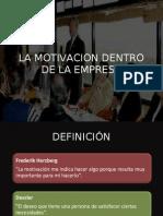Motivacion Dentro de La Empresa