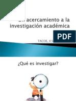 Un acercamiento a la investigación académica
