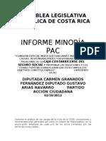 INFORME MINORÍA CCSS PAC 02 10 12