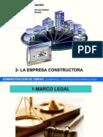 2-Marco Legal y Organizacion de Una Empresa Constructora