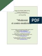 Modernite Contre Modernite