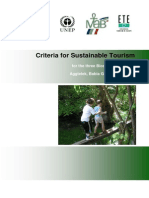 Criteria for Sustainable Tourism