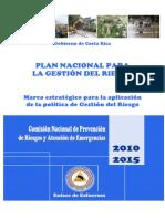 Plan Nacional Para Gestion Riesgo 2010 2015