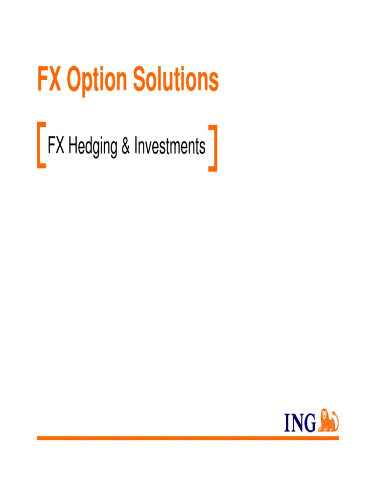 Fx options hedging