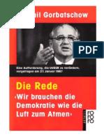 Gorbatschow, Michael - Die Rede