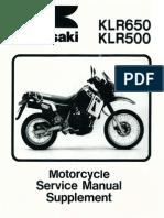 Manual de Servicio KLR 650