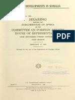 Recent Development 1993 (Somalia)
