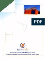 Catálogo general de puertas en block.