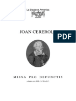 Missa Pro Defunctis Joan Cererols