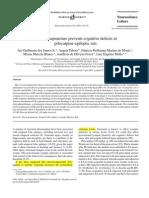 Ea Prvents Cognitive Deficit in Pilocarpine Induced Rat