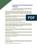 ESTUDIOS AMBIENTALES PARA LA PEQUEÑA MINERÍA Y LA MINERÍA ARTESANAL