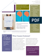 Fact Sheet Assignment on Dyslexia