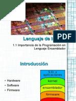 Importancia de la programación de Lenguaje Ensamblador.odp