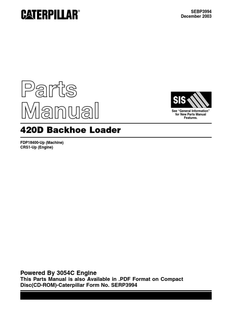 cat 420d manual der partes pdf