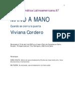 Viviana Cordero - Mano a Mano