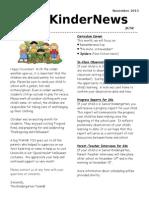 class newsletter - november 2013 revised
