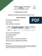 Dra. Carmen Silva Temario 5° Semestre UNAM