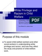 White Privilege and Racism in Child Welfare PPT.ppt