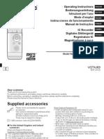 Manual Panasonic Rr Xs350