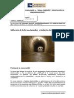 LECTURA Nº 02 INFLUENCIA DE LA FORMA, TAMAÑO Y ORIENTACIÓN DE LAS EXCAVACIONES
