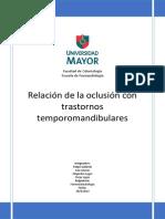 Relacion Oclusion y Trastorno Temporomandibulares (1)