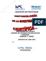 50192555 Metodologia de Investigacion