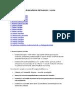 Resumen del libro de estadísticas de Berenson y Levine