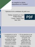opinión estudiantes Aquileo Parra