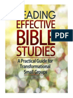 Leading Effective Bible Studies; A Practical Guide for Leading Transformational Small Groups