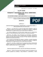 Ley de Tránsito Uruguay