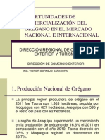 OPORTUNIDADES DE COMERCIALIZACIÓN DEL ORÉGANO EN EL MERCADO