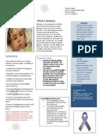 Chasity Dailey Fact Sheet on Epilepsy