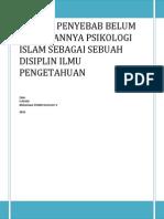 Makalah Psikologi Kepribadian Islam