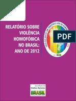 Relatorio Violencia Homofobica Ano 2012