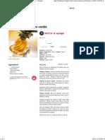 Ananas rôti au beurre vanillé - une recette Exotique - Cuisine