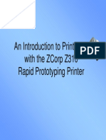 An Introduction to Printing in 3D