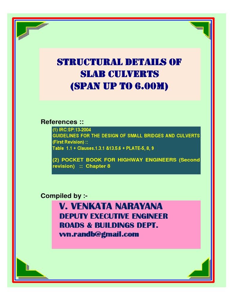 IRCSP13_Design of SlabCulverts pdf | Structural Engineering