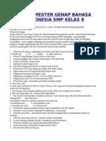 Soal Bahasa Indonesia Smp Kelas 8