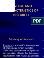 1)NATURE AND CHARACTERISTICS OF RESEARCH.ppt