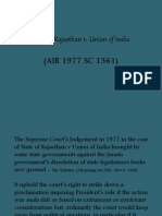 State of Rajasthan v. Union of India  (AIR 1977 SC 1361)