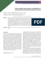 Calidad Sensorial, Calidad Nutricional, Aceptabilidad de Consumidores de Pan Blanco a Base De