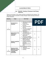 Tsl 3108 Allocation of Topics According to Sessions