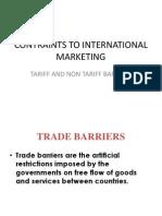 constraints to international marketing