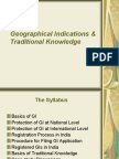 Geographical Indications & Traditional Knowledge