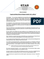 PressRelease-2013-Legal and Moral Duty to Regain Sabah's Oil -12 October 2013.docx