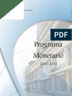Programa Monetario 2011 2012