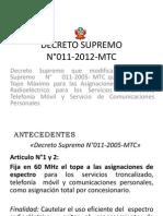 DECRETO SUPREMO N°011-2012-MTC