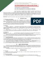 Spectrophotometric Determination of Cardiovascular Drugs