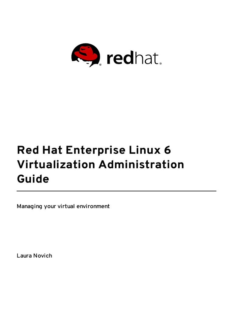 Red Hat Enterprise Linux 6 Virtualization Administration Guide