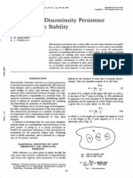 Einstein, H.H., Veneziano, D., Baecher, G.B. and Oreilly, K.J., 1983, The Effect of Discontinuity Persistence on Rock Slope Stability